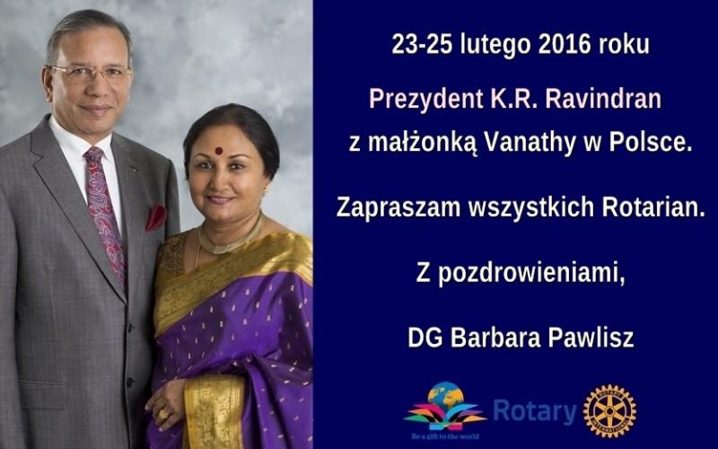 Wizyta Prezydenta RI Raviego Ravindrana w Polsce