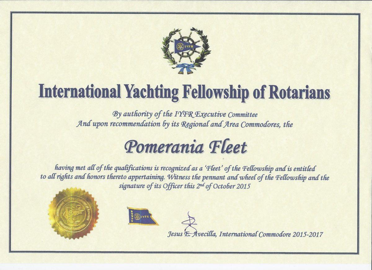IYFR--Pomerania-Fleet--Dok.Charterowy