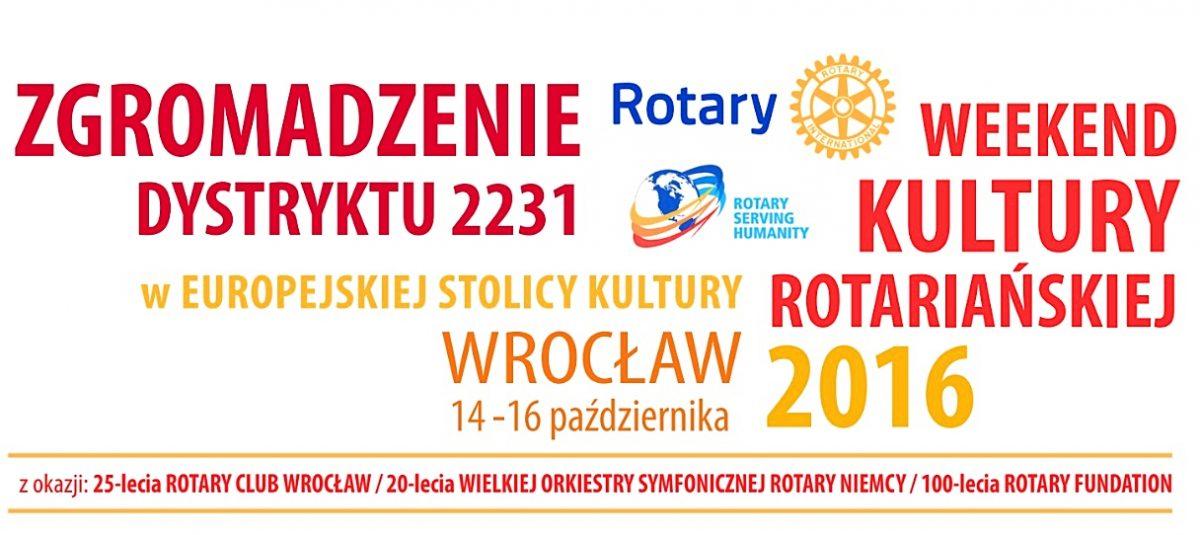 Zgromadzenie Dystryktu 2231 i Weekend Kultury Rotariańskiej