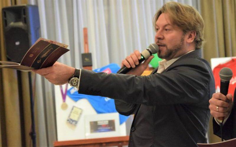 Michał Milowicz na balu RC Grudziądz Centrum