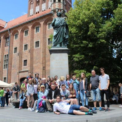 Uczestnicy VII Konferencji Interactów na wycieczce w Toruniu