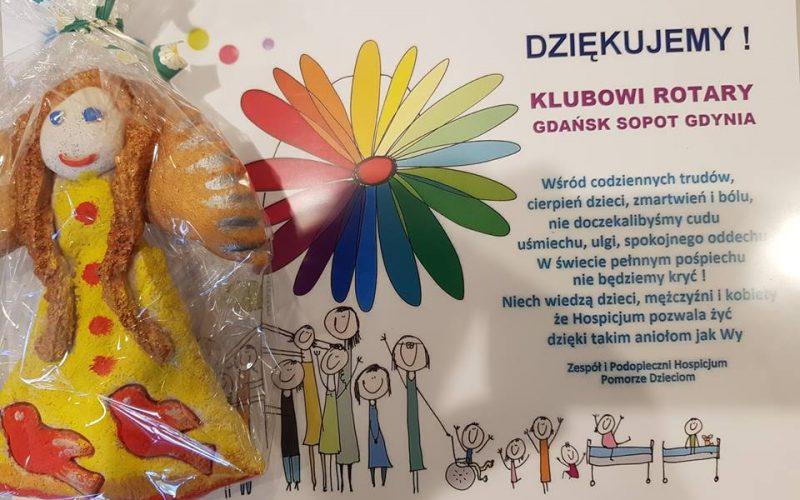 Hospicjum Pomorze Dzieciom dziękuje Rotarianom