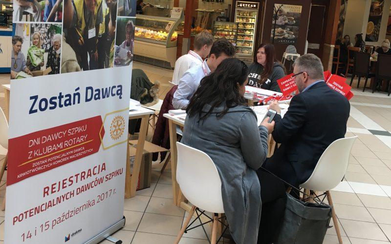 Dni Dawcy Szpiku z udziałem poznańskich Rotarian