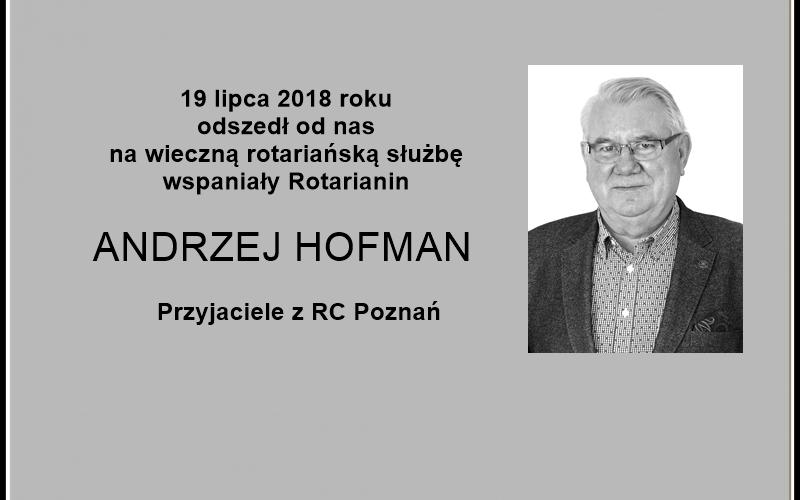 Ostatnie pożegnanie Andrzeja Hofmana