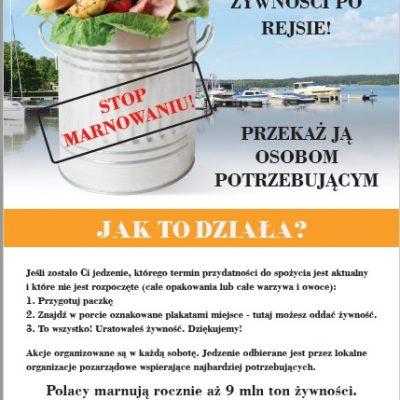 plakat zbiorka zywnosci RC Gizycko ok