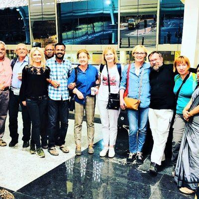 10 Pożegnanie na lotnisku w Coimbatore