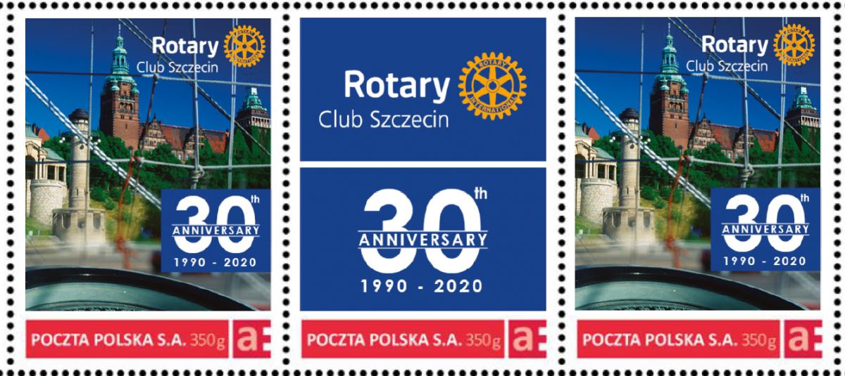 Pierwszy znaczek pocztowy o tematyce rotariańskiej