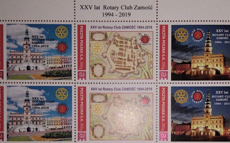 Jubileuszowe znaczki RC Zamość