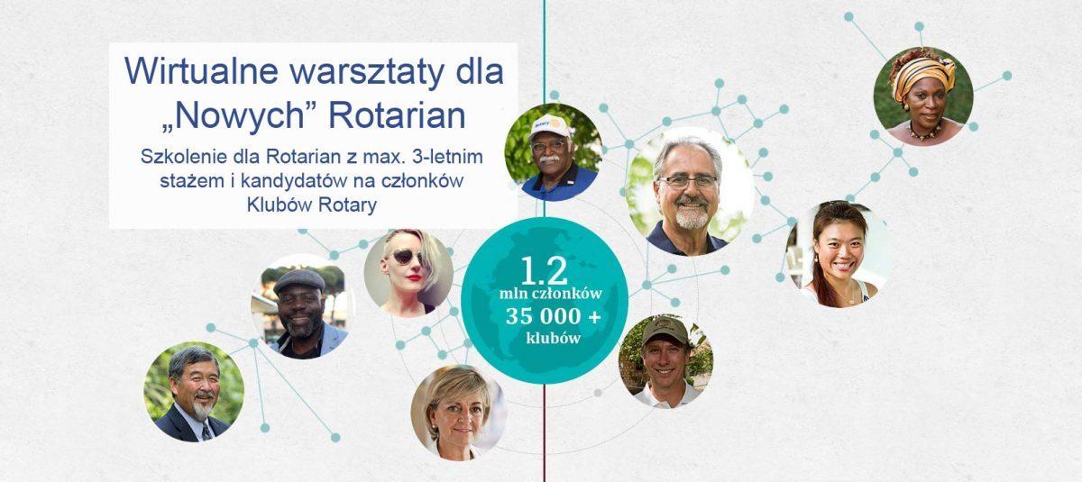 """Wirtualne warsztaty dla """"Nowych"""" Rotarian"""