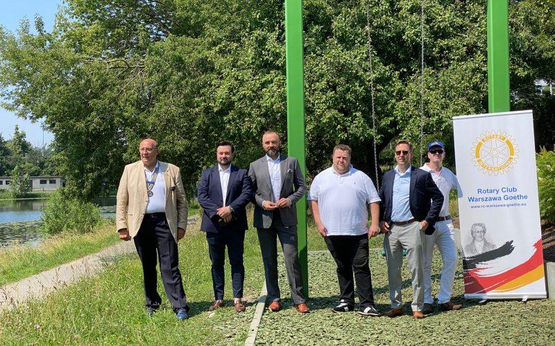 Darowizna Wspólnoty Rotariańskiej w Ogrodach Polsko-Niemieckich w Warszawie
