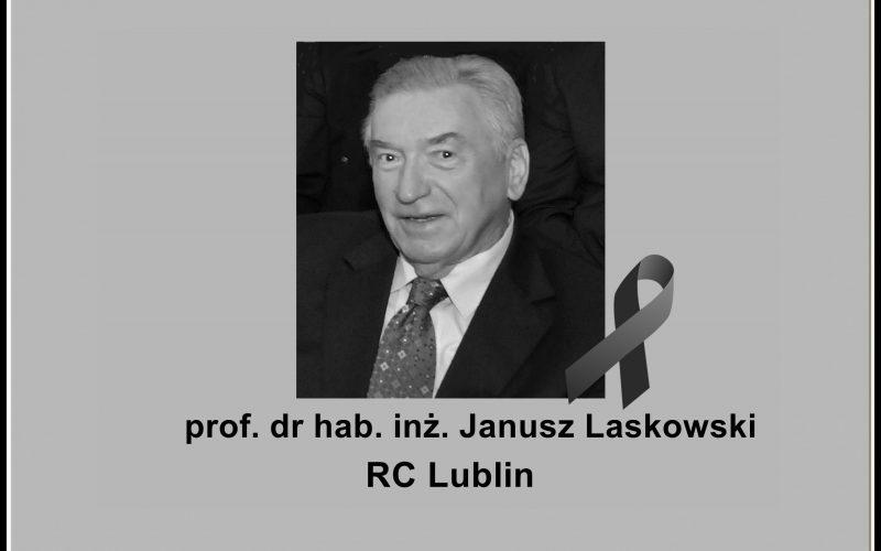 Żegnamy prof. dr hab. inż. Janusza Laskowskiego