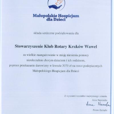 RC Krakow Wawel podziekowanie hospicjum (2)